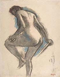 Bather Sponging Her Knee | Degas | Gemälde Reproduktion