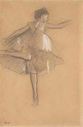 Dancer on Pointe, c.1878 by Degas | Painting Reproduction