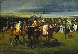At the Races: The Start, c.1860/862 by Degas | Painting Reproduction