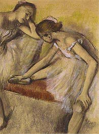 Dancers in Repose, c.1898 by Degas | Painting Reproduction