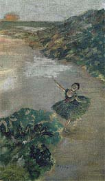 Dancer on stage, c.1879 by Degas | Painting Reproduction