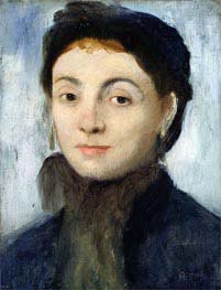 Portrait of Josephine Gaujelin, 1867 by Degas | Painting Reproduction