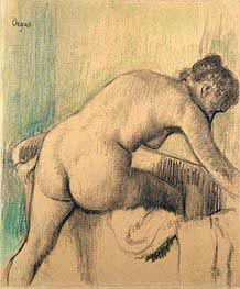 The Bath, 1883 by Degas | Painting Reproduction