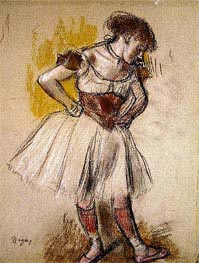 Dancer, c.1880 by Degas | Painting Reproduction
