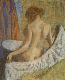 After the Bath, Woman with a Towel, c.1885/90 by Degas | Painting Reproduction