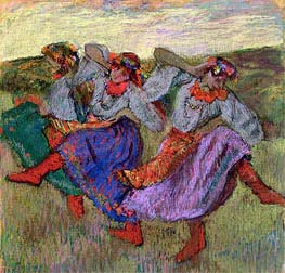 Russian Dancers, c.1899 by Degas | Painting Reproduction