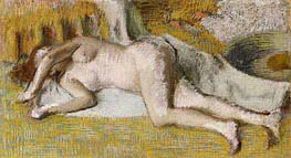 After the Bath, 1885 by Degas | Painting Reproduction