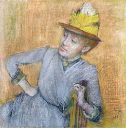 Seated Woman, 1887 by Degas | Painting Reproduction