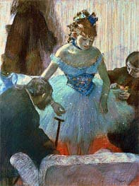 Dancer in Her Dressing Room , undated by Degas | Painting Reproduction