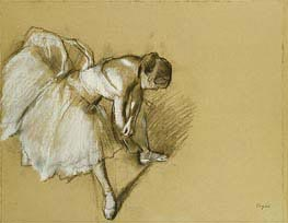 Dancer Adjusting her Shoe | Degas | veraltet