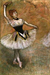 Dancer with Tambourine, c.1882 by Degas | Painting Reproduction