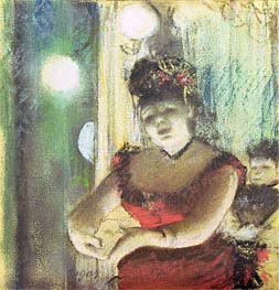 Cafe-Concert Singer, undated by Degas | Painting Reproduction