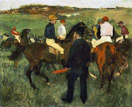 Racehorses (Leaving the Weighing), c.1874/78 by Degas | Painting Reproduction