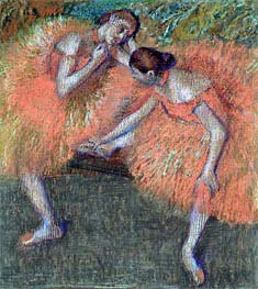Two Dancers, c.1898 by Degas | Painting Reproduction