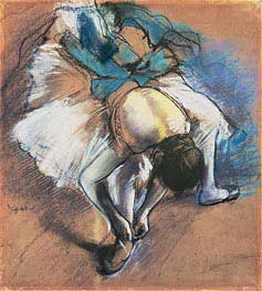 Dancer Fastening her Pump, c.1880/85 by Degas | Painting Reproduction