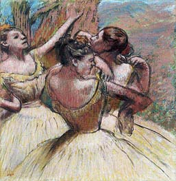 Three Dancers, c.1899 by Degas | Painting Reproduction