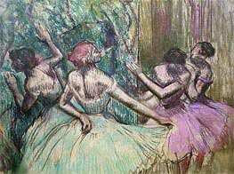 Dancers in the Wings, c.1899 by Degas | Painting Reproduction