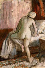 Bedtime, c.1883 by Degas | Painting Reproduction