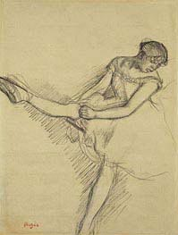 Dancer Seated, Readjusting her Stocking | Degas | Gemälde Reproduktion