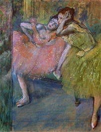 Two Dancers in the Foyer, c.1901 by Degas | Painting Reproduction