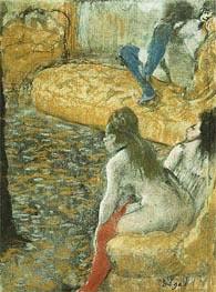 Warten auf einen Client | Degas | Gemälde Reproduktion