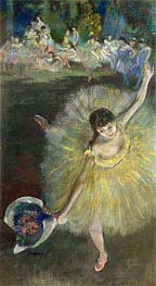 End of an Arabesque, c.1877 by Degas | Painting Reproduction