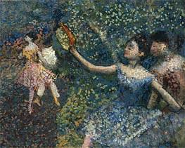 Tänzerin mit Tamburin, c.1897 von Degas | Gemälde-Reproduktion