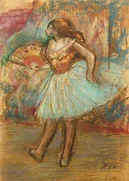 Dancer with a Fan, c.1895/00 by Degas | Painting Reproduction