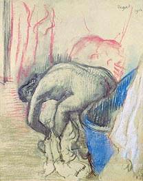 Nach dem Bad, 1903 von Degas | Gemälde-Reproduktion