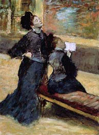 Visit to a Museum, c.1879/80 by Degas | Painting Reproduction