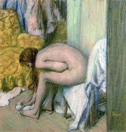 After the Bath, Woman Drying her Left Foot, 1886 von Degas | Gemälde-Reproduktion