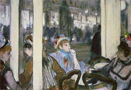 Women on a Cafe Terrace, 1877 by Degas | Painting Reproduction