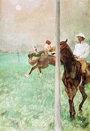 Jockeys vor dem Rennen | Degas | Gemälde Reproduktion
