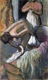 Breakfast After the Bath (Young Woman Drying Herself) | Degas | veraltet
