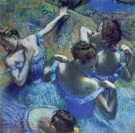 Ballerinas in Blau, c.1899 von Degas | Gemälde-Reproduktion