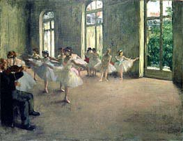The Rehearsal, c.1873/78 by Degas | Painting Reproduction