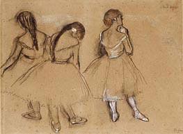 Drei Tänzerinnen, undated von Degas | Gemälde-Reproduktion
