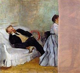 Monsieur und Madame Edouard Manet, c.1868/69 von Degas | Gemälde-Reproduktion