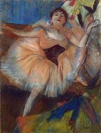 Seated Dancer, c.1879/80 von Degas | Gemälde-Reproduktion