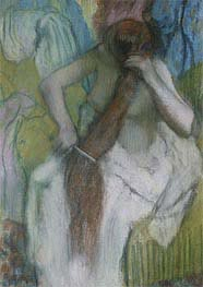 Woman Combing her Hair | Degas | Painting Reproduction