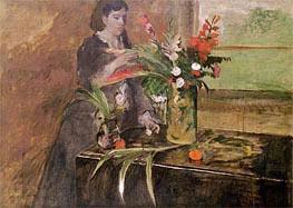 Junge Frau Blumengestaltung, 1872 von Degas | Gemälde-Reproduktion