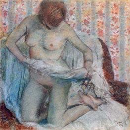 Nach dem Bad, 1884 von Degas | Gemälde-Reproduktion