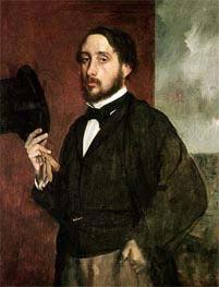 Selbstportrait, c.1862 von Degas | Gemälde-Reproduktion