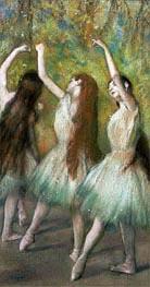 Ballerinen in grün, 1878 von Degas | Gemälde-Reproduktion