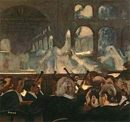 The ballet scene from Meyerbeer's opera 'Robert le Diable', 1876 von Degas | Gemälde-Reproduktion