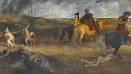 Scene of War in the Middle Ages, c.1865 von Degas | Gemälde-Reproduktion