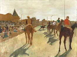 The Parade (Race Horses in Front of the Stands), c.1866/68 von Degas | Gemälde-Reproduktion