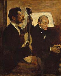 Degas's Father Listening to Lorenzo Pagans Playing the Guitar, c.1869/72 von Degas | Gemälde-Reproduktion