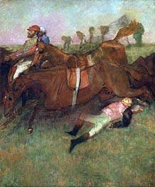 Der gefallene Jockey, 1866 von Degas | Gemälde-Reproduktion