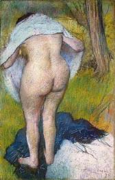 Girl Drying Herself, 1885 von Degas | Gemälde-Reproduktion